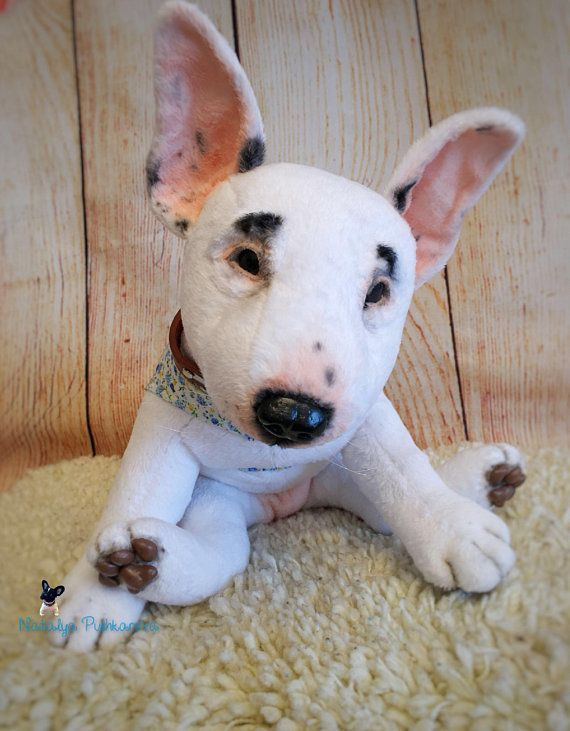 bull terrier puppy/dog 14,2in(36cm) realistic toy MADE TO