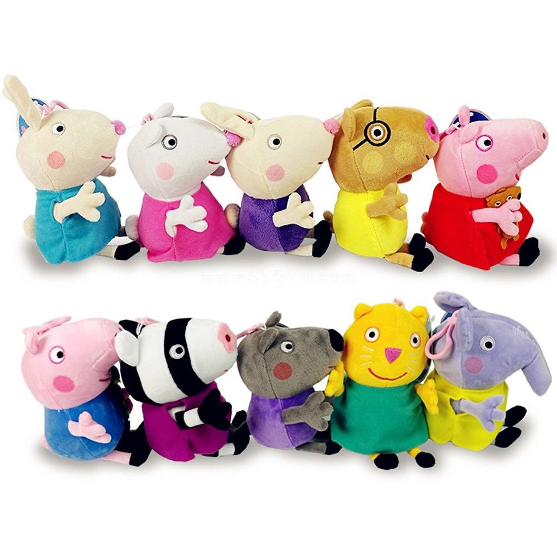 Peppa Pig Plush Toys Peppa Family Friends 10pcs Set