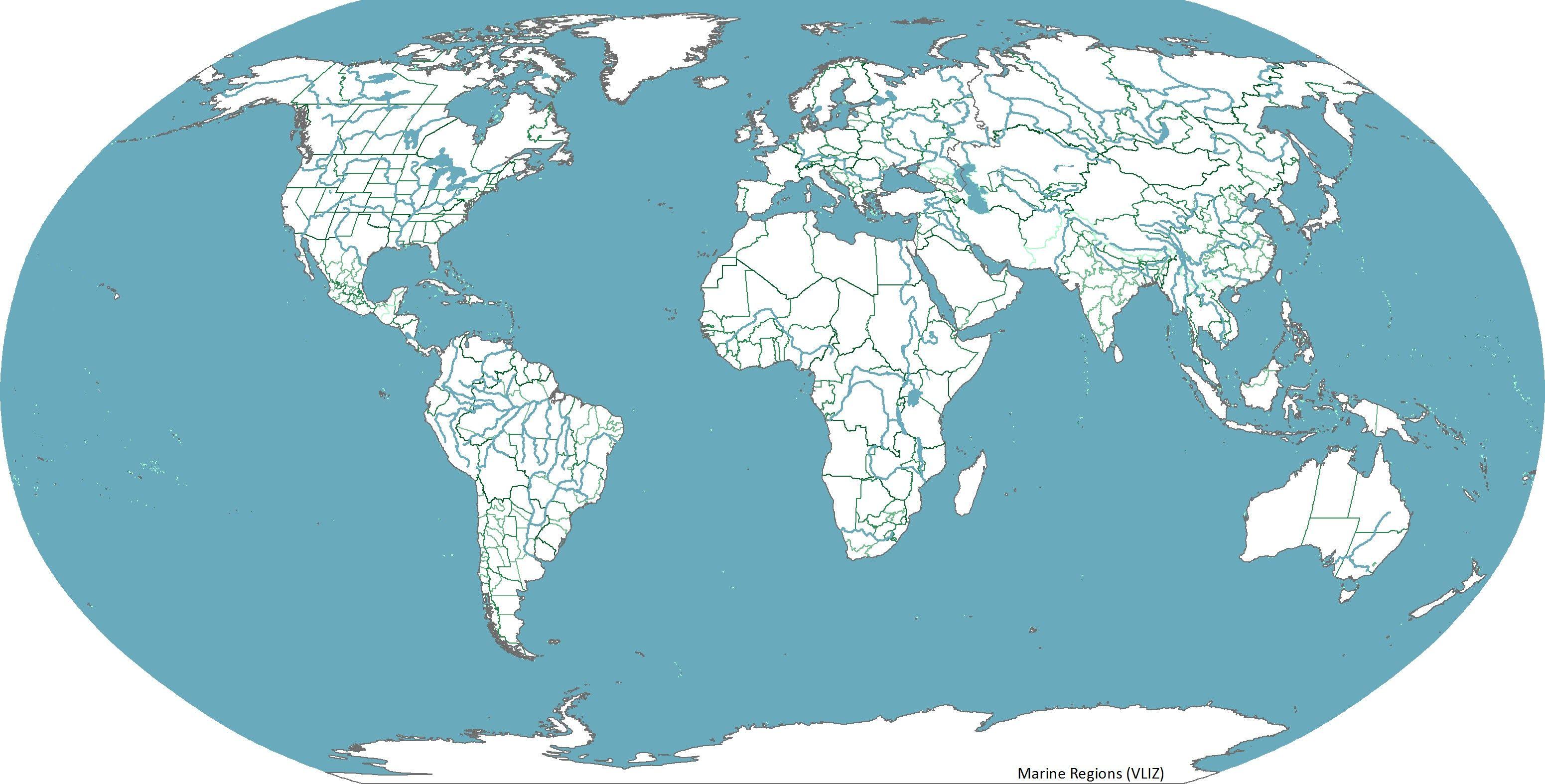 Amazing World Map Without Names 11