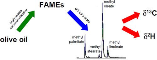 #Talanta Compound-specific δ13C and δ2H analysis of olive oil fatty acids
