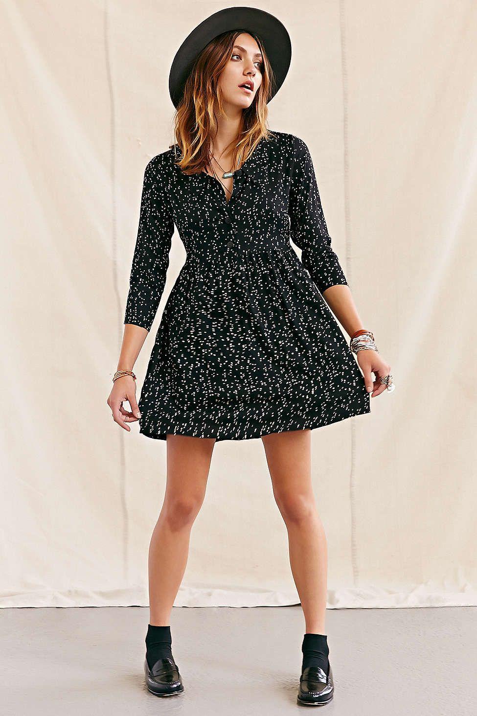 One & Only X Urban Renewal Polka Dot Dress