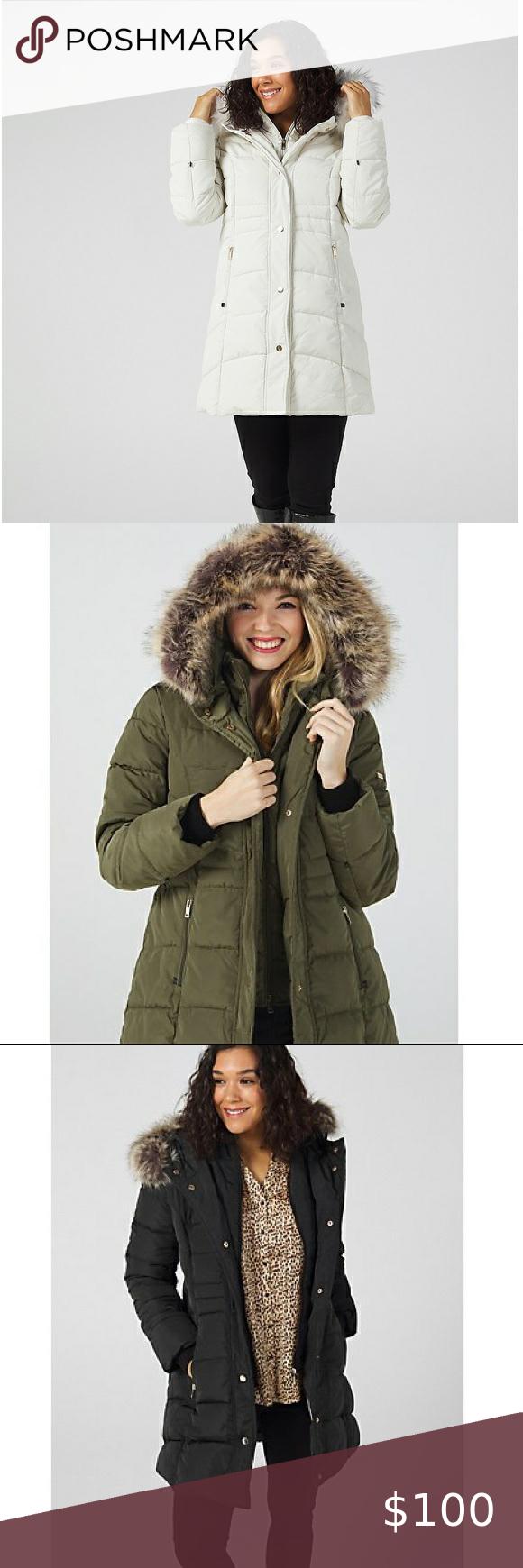 Nwot Centigrade Faux Down Coat In 2021 Coats Jackets Women Vintage Ski Jacket Down Coat [ 1740 x 580 Pixel ]