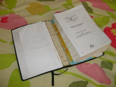 Step by step instructions on How to repair a Bible Cover or