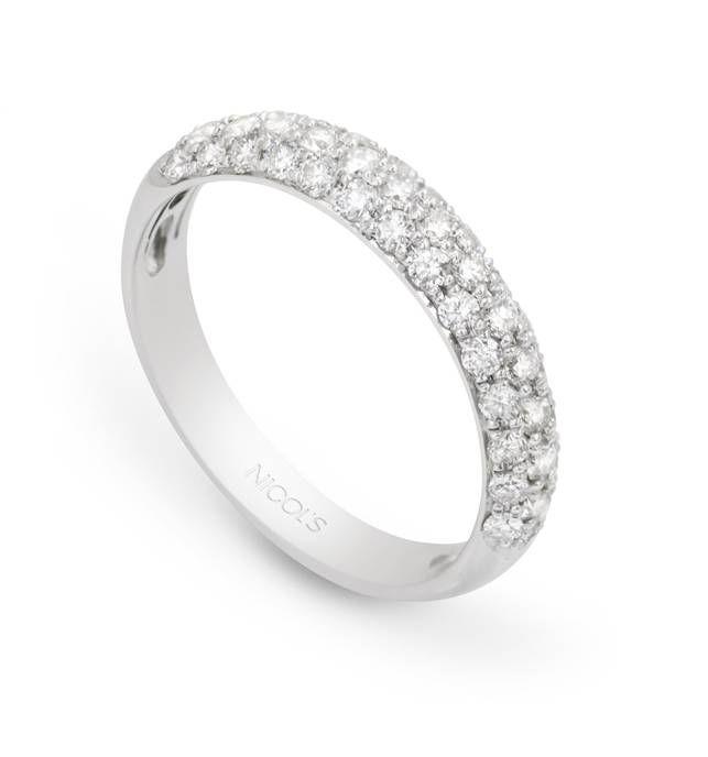 318067bcc657 Anillos de Diamantes DIAMOND CLASSIC NICOL´S. Media alianza en doble línea