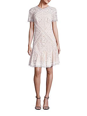 Guest Ceremony Dress - Lace Dress with Pintuck Jersey