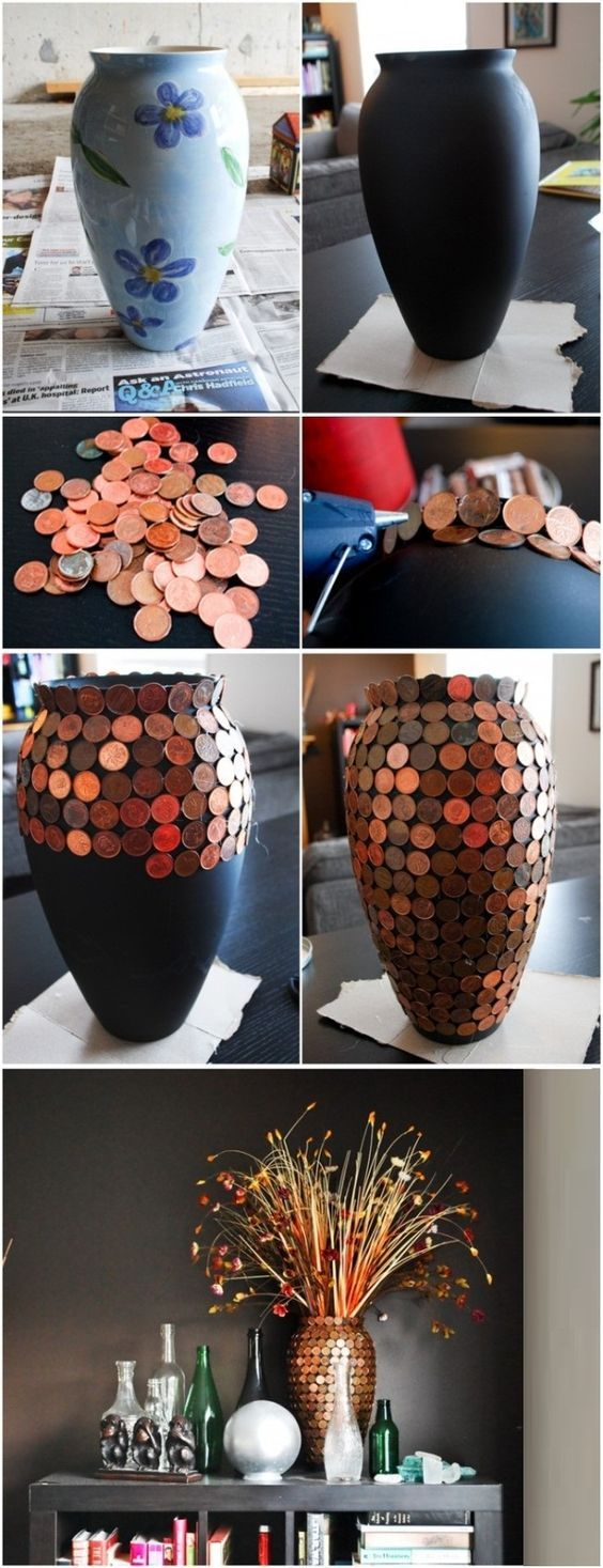 Как украсить вазу своими руками фото фото 910