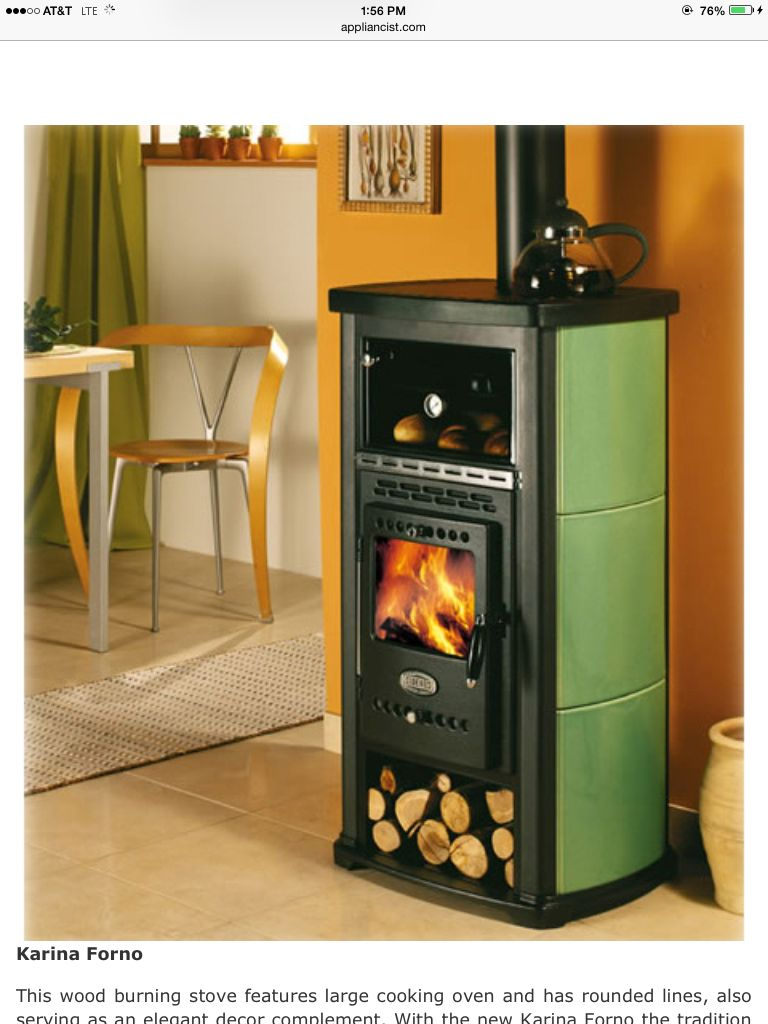 Sideros Wood Burning Stoves With Oven And Burners