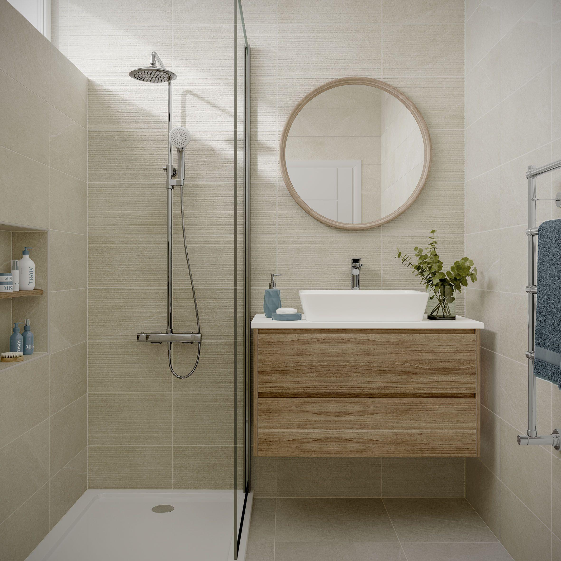 Ingleton Cream Bathroom Wall Tile Stone Tile Bathroom Tile Bathroom