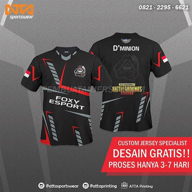 Desain Baju Esport Pubg - BAJUKU