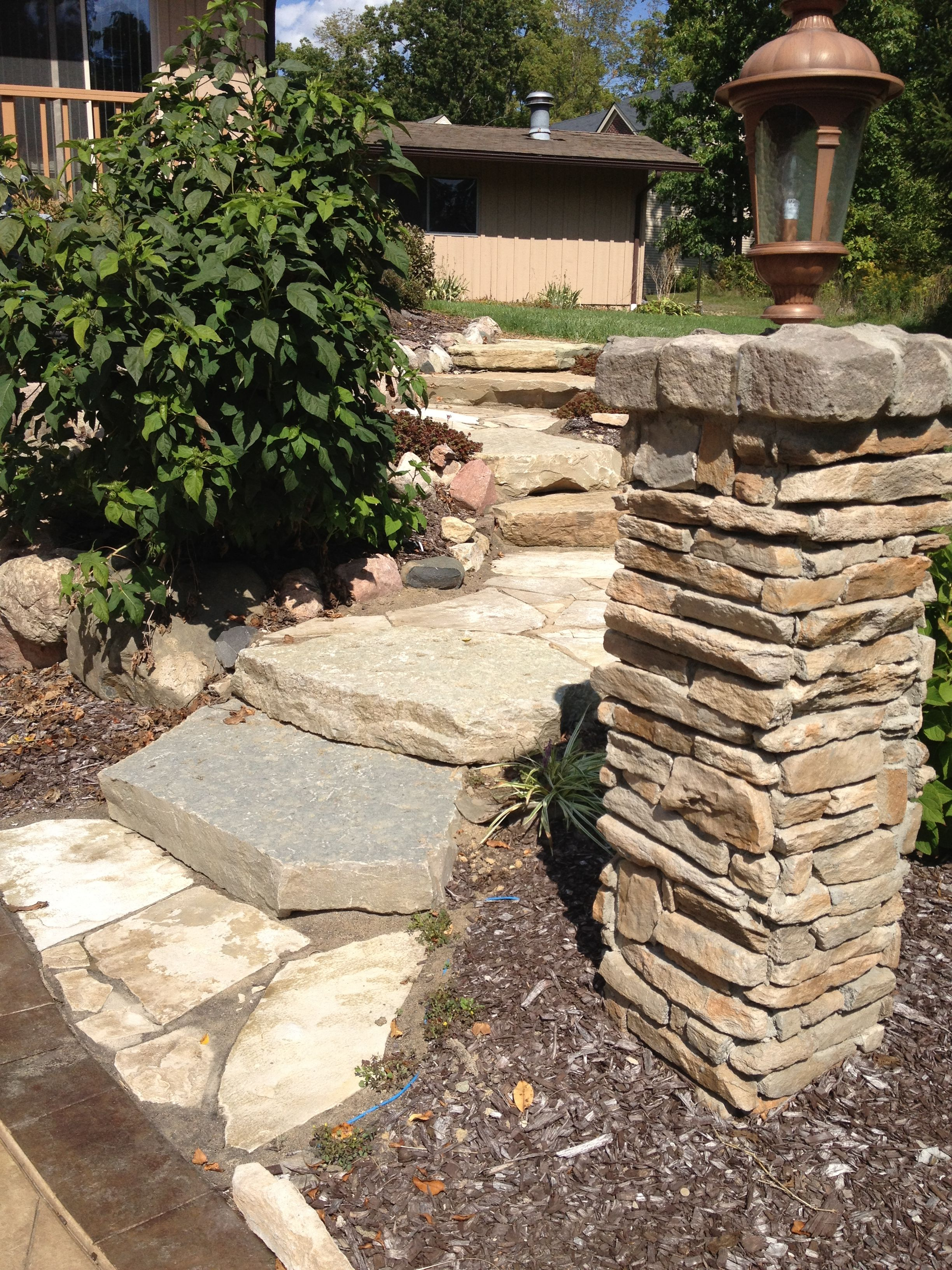 Best Limestone Steps And Cultured Stone Pillars Cultured 400 x 300
