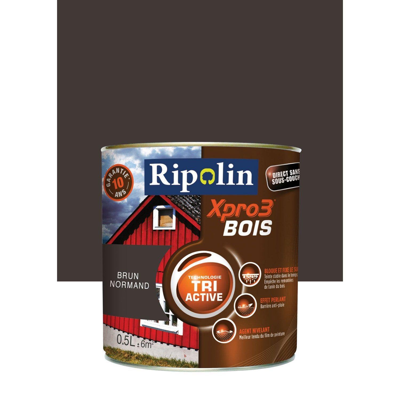 Peinture Bois Extérieur Intérieur Xpro 3 Ripolin Brun