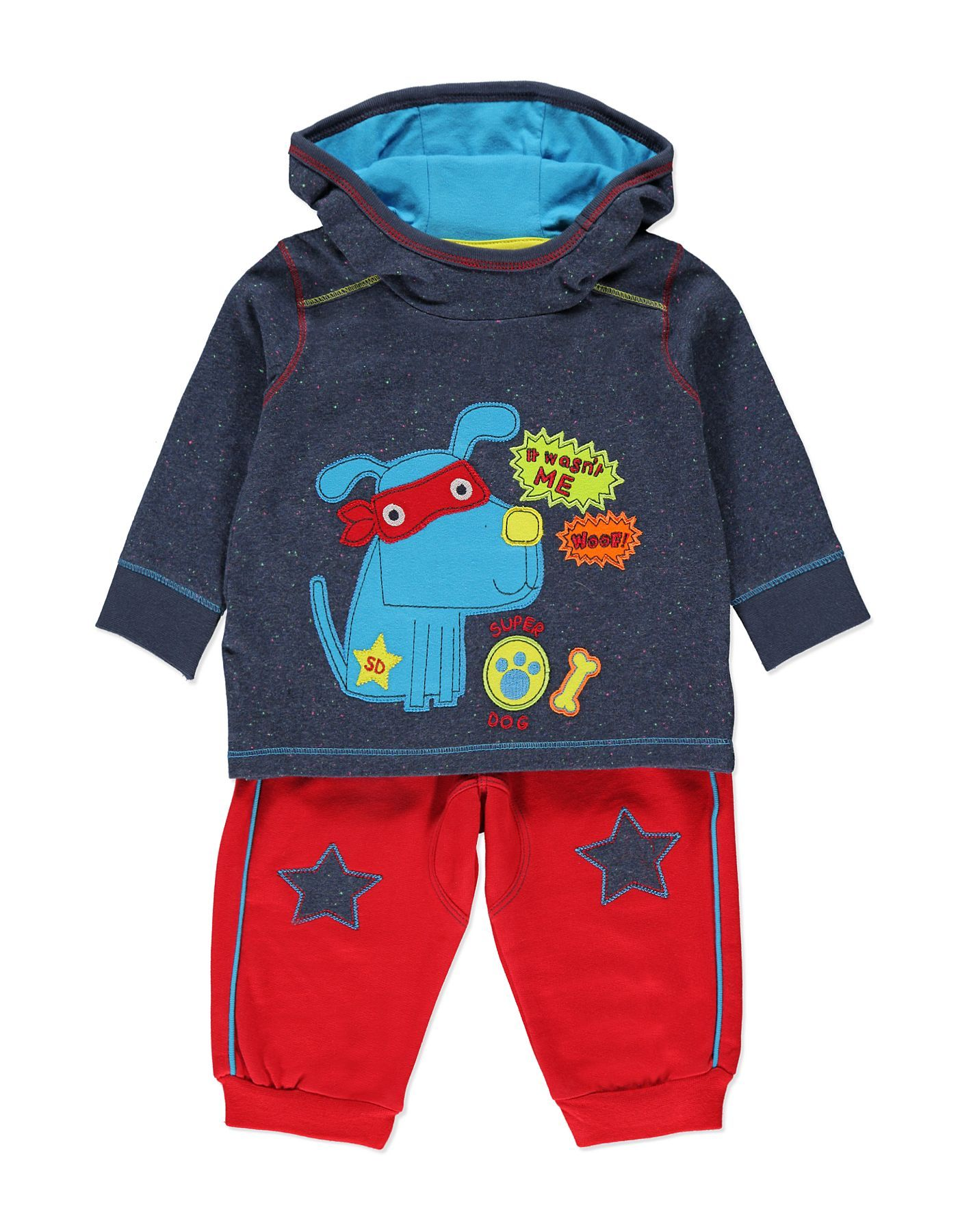 Puppy Hoody and Joggers Set Baby George at ASDA