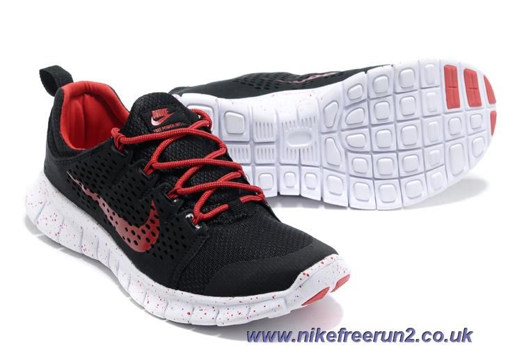 Men's Nike Free Powerlines II Shoes Black/Crimson