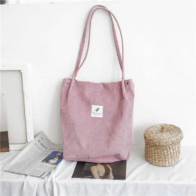 Women Canvas Shoulder Bag Eco Environmental Shopping Bag