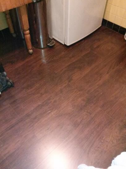 Trafficmaster Dark Brown Hickory 7 Mm Thick X 8 03 In Wide X