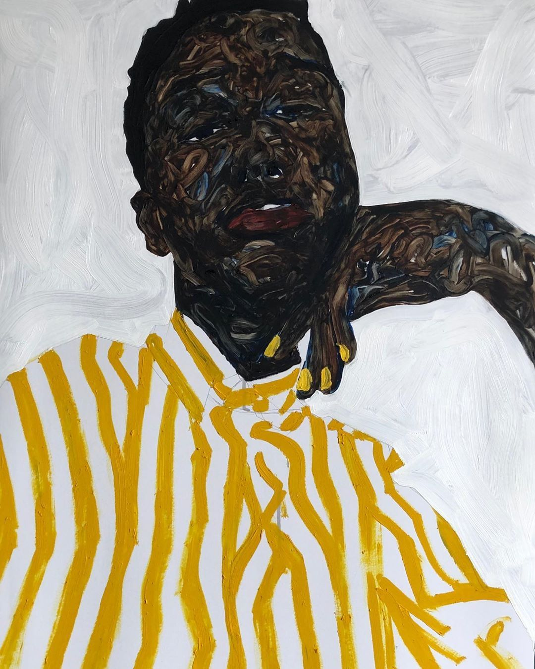Painting by Amoako Boafo Art, Painting, Figure painting