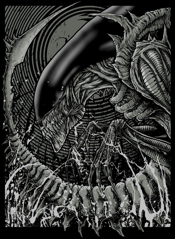 Godmachine Alien Predator Glow In Dark Print World