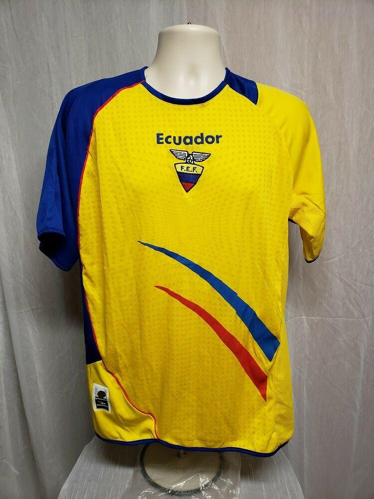 8b40bc9364e Ecuador Marathon FEF Adult Yellow One Size Football Soccer Jersey  Marathon   Ecuador