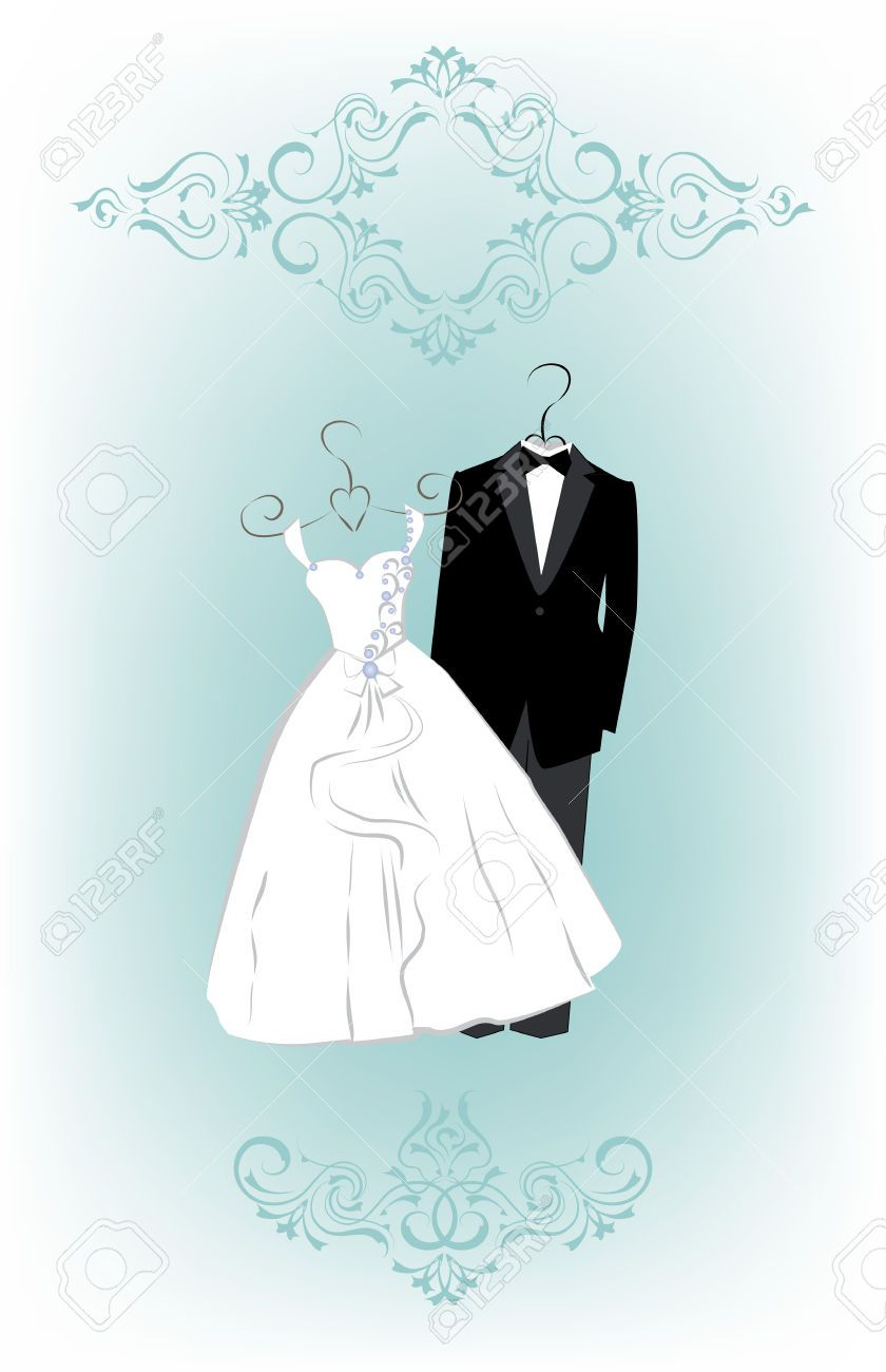 wedding invitation tuxedo and dress - Google Search   Wedding ...