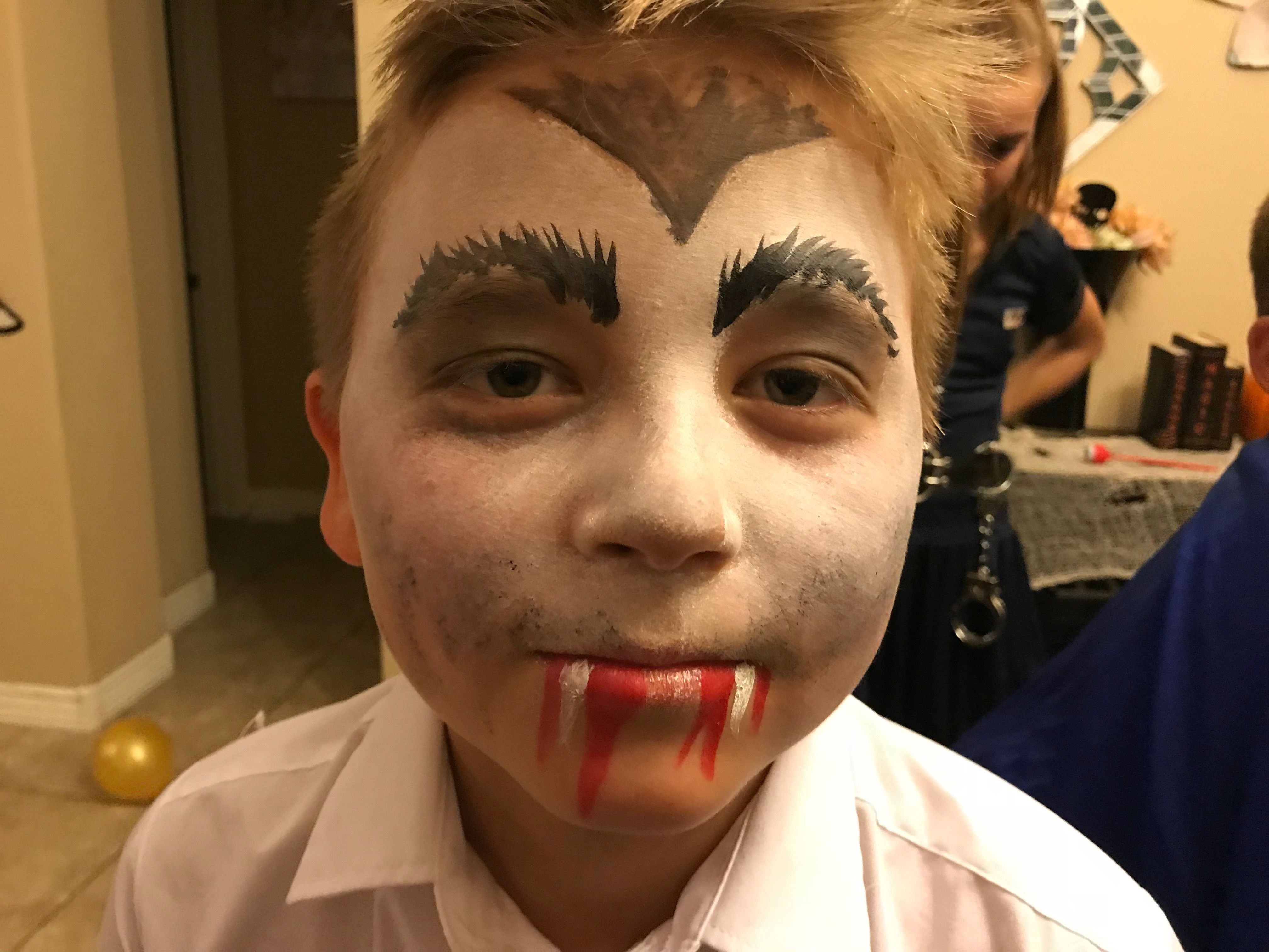 Uncategorized Vampire Face Paint Ideas vampire face paint ginas painting and fun pinterest paint