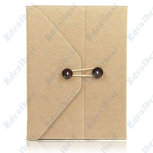 $17.56 Cheap envelop Case For the New ipad3 ipad2 By Jeans Material(Beige) Edealbest.com