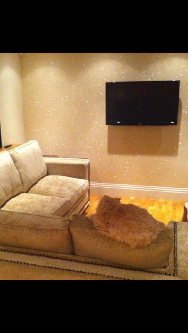 Beautiful Glitter Paint For Walls Glitter Wall Gold Living Room