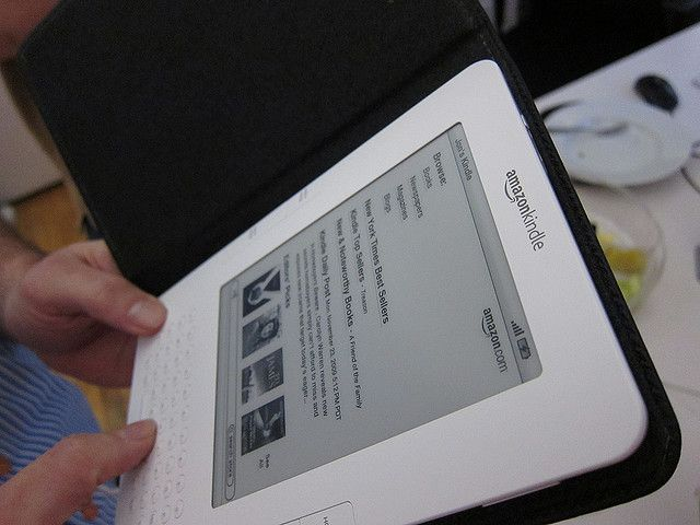 The Amazon Kindle arrives at the office     The only electronic reading device you will need!