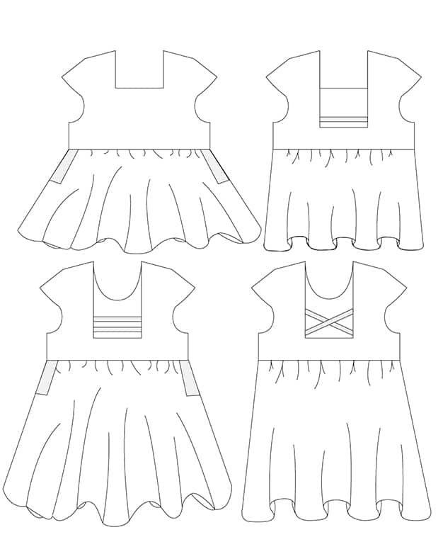 Shelby's Strappy Back Pocket Top & Dress. Downloadable PDF