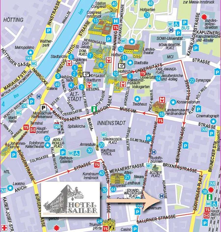 Innsbruck Karte Innsbruck Karte Innsbruck Karten