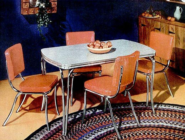 Dining set 1951 mesa e cadeira vintage retro for Mobilia anos 50