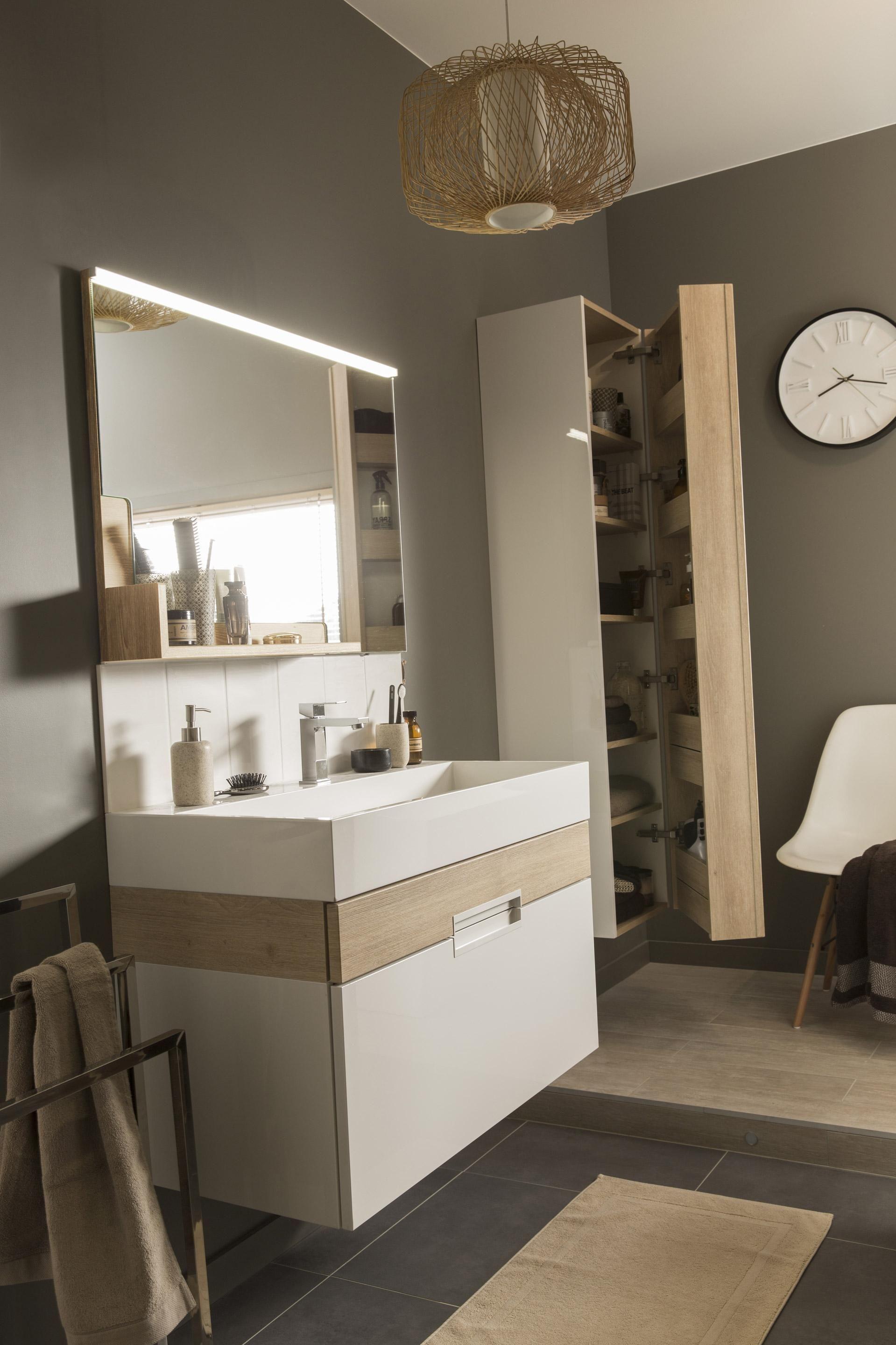 Meuble de salle de bains simple vasque, Eden  Meuble sous vasque