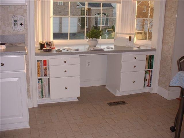 bay window built in desk | Kitchen Bay Window Desk - About ...