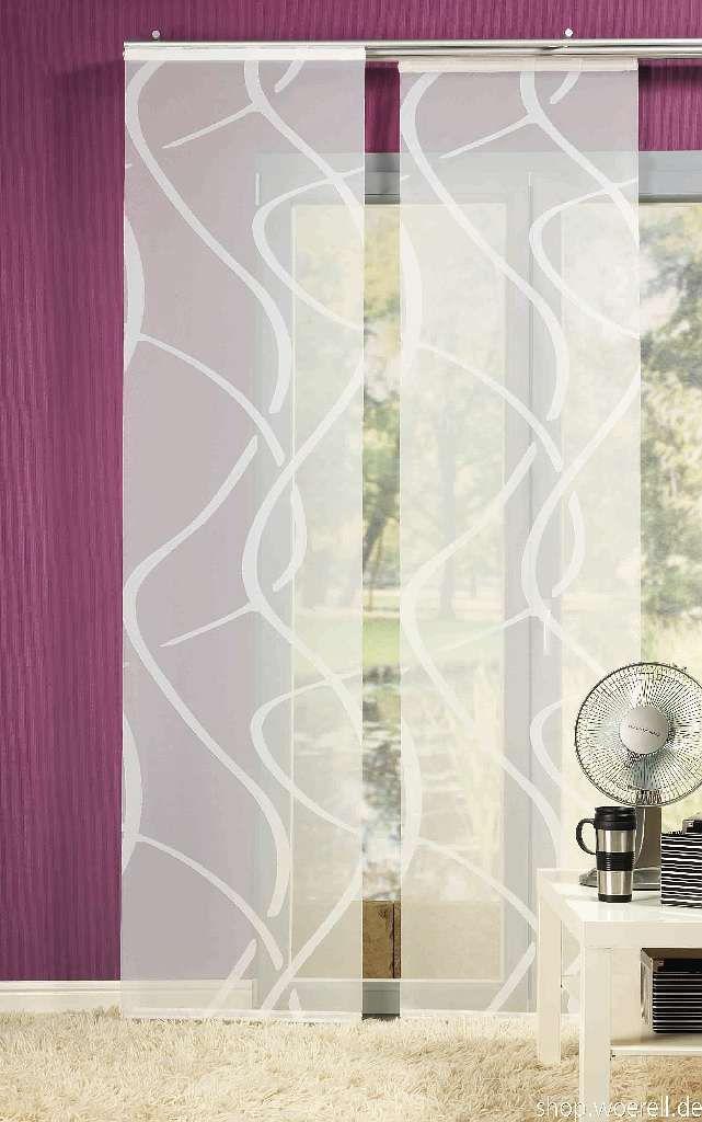 fl chenvorhang vegas 849801 070 60x245cm wei. Black Bedroom Furniture Sets. Home Design Ideas