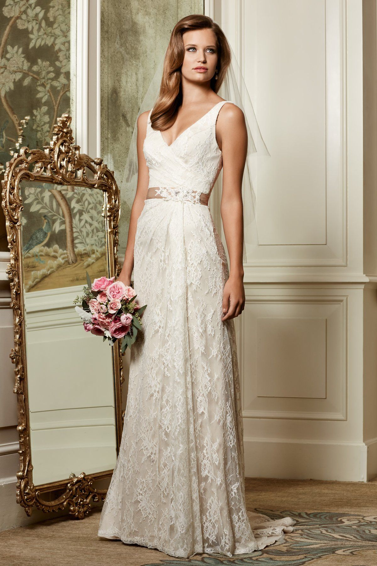 Wtoo by Watters Eloise 13118 Lace Sheath Wedding Dress – Off White by Bridal Expressions