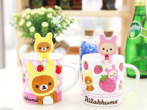 #rilakkuma #korilakkuma strawberry mugs ♥