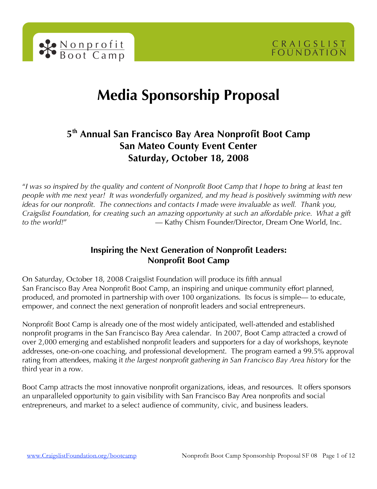 Sponsorship Proposal Package Template