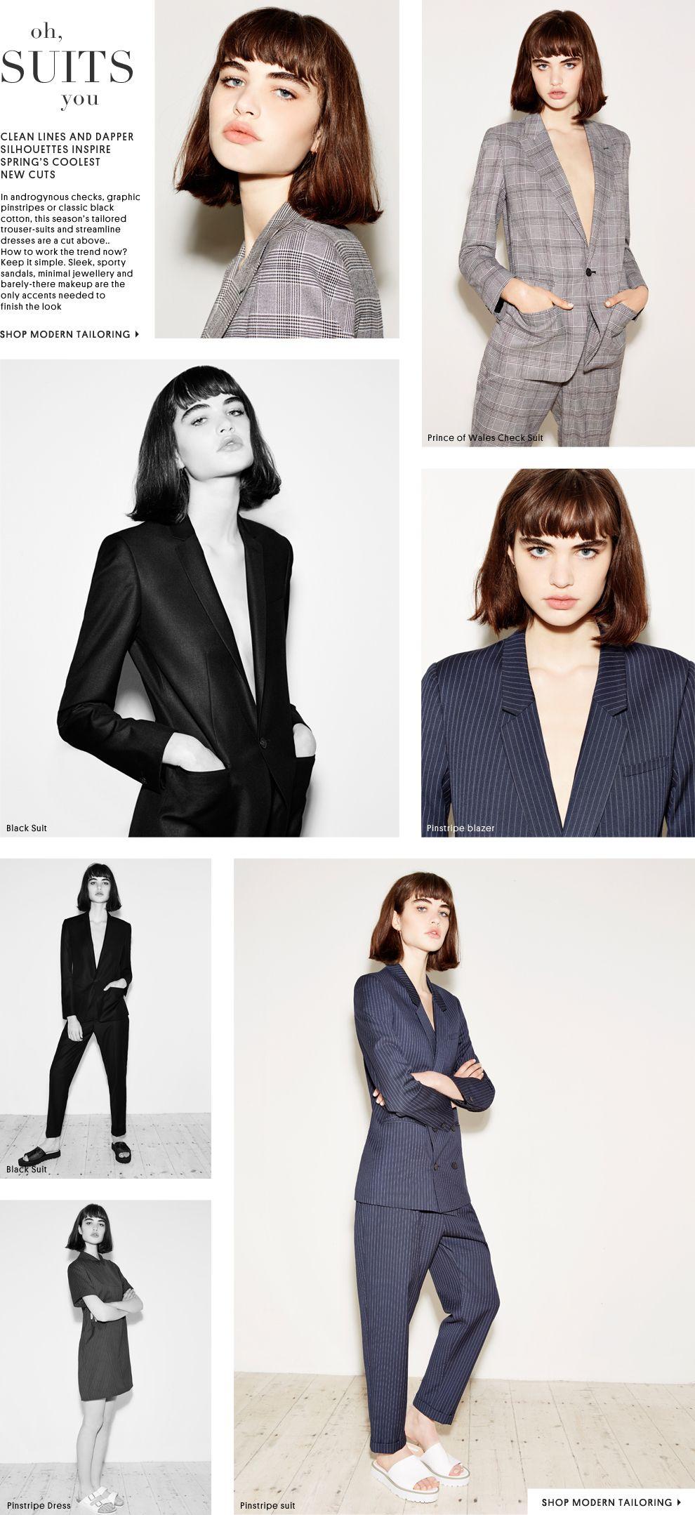 Topshop Modern Tailoring #unstructured #workwear #topshop ...