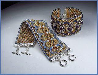 "Beads Beading Beaded, with Erin Simonetti: ""Tweed Cuff"" in blues, too!"