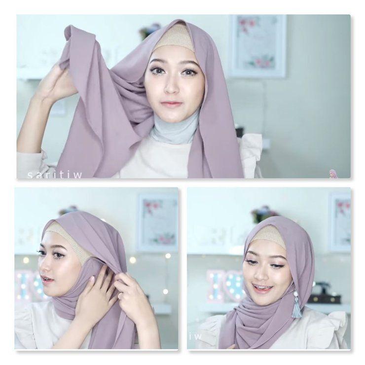 Tutorial Hijab Simple Pakai Anting Gaya Hijab Anting Gaya