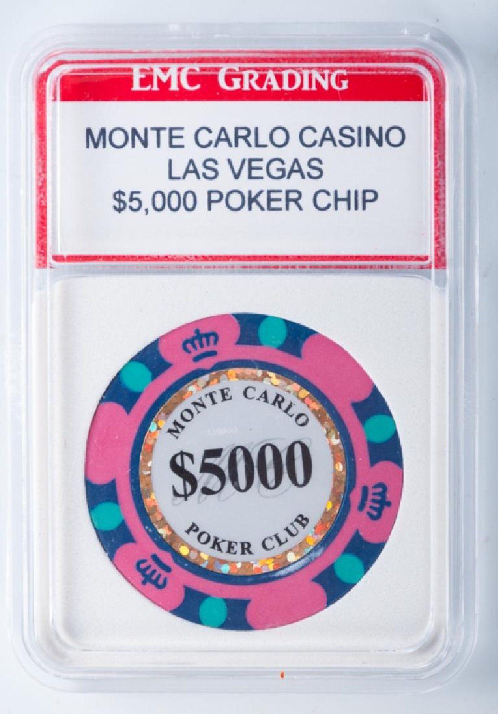Monte Carlo Casino 5,000 Poker Chip Card factory, Poker