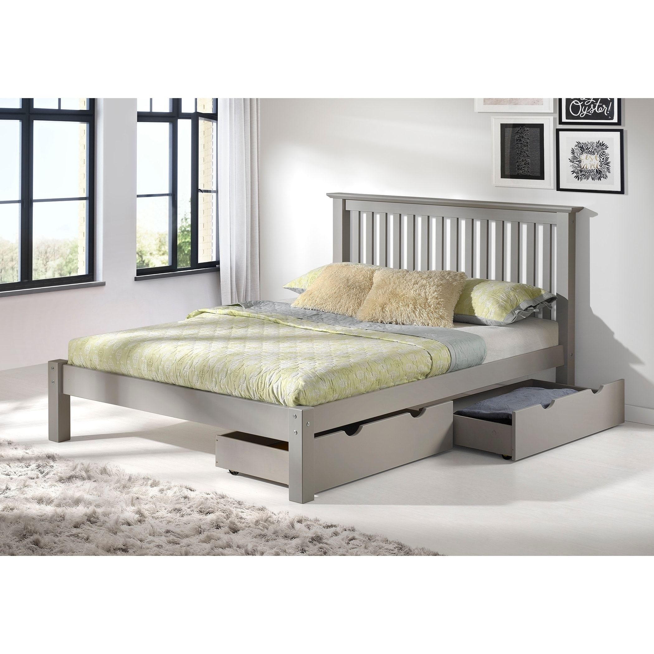 Bolton Furniture Girona Dove Grey Brazilian Pine Queensize Storage