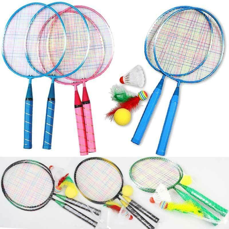 1 Pair Youth Children S Badminton Rackets Sports Cartoon Suit Toy For Children Mixequipment32976338483 Badminton Racket Badminton Rackets