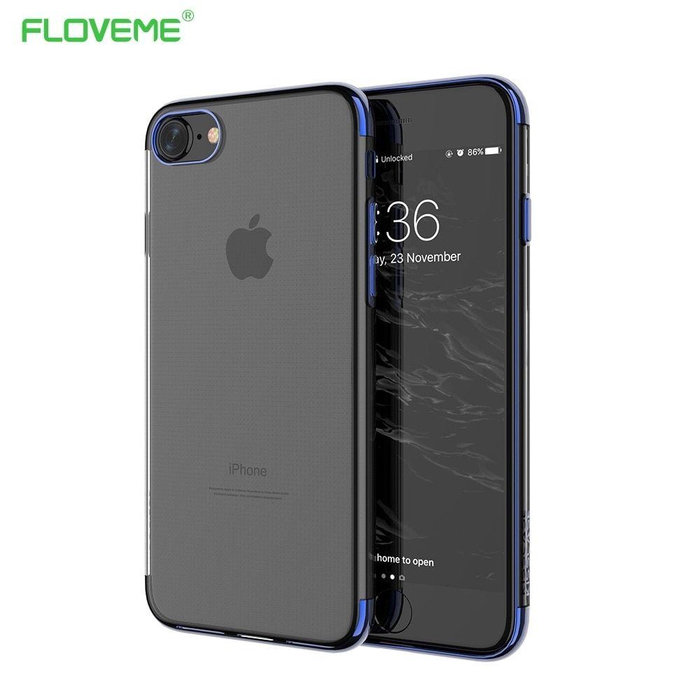 Floveme Original For Iphone 7 8 Plus Transparent Case For Iphone 6 6s Plus Luxury Phone Cases For Iphone 7 8 Cover Coque Silicon Iphone Luxury Phone Case Iphone 7