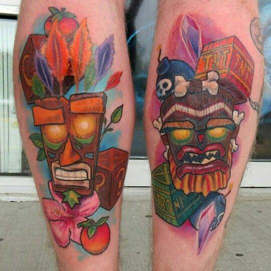 Tobyshipmantattoos crash bandicoot pieces tattoo film for Crash bandicoot tattoo