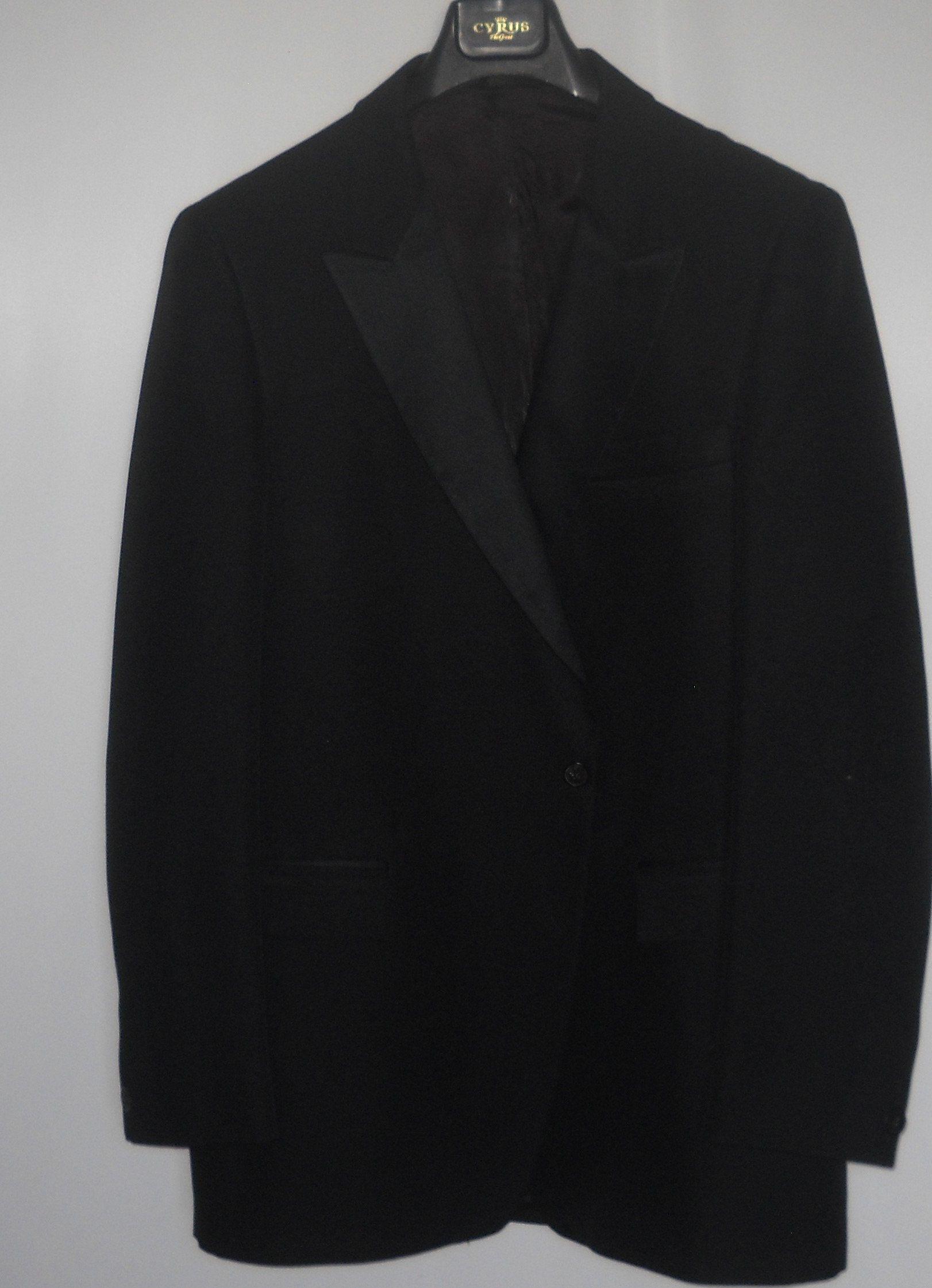44L Long formal tuxedo jacket black After Six Burberry's 1