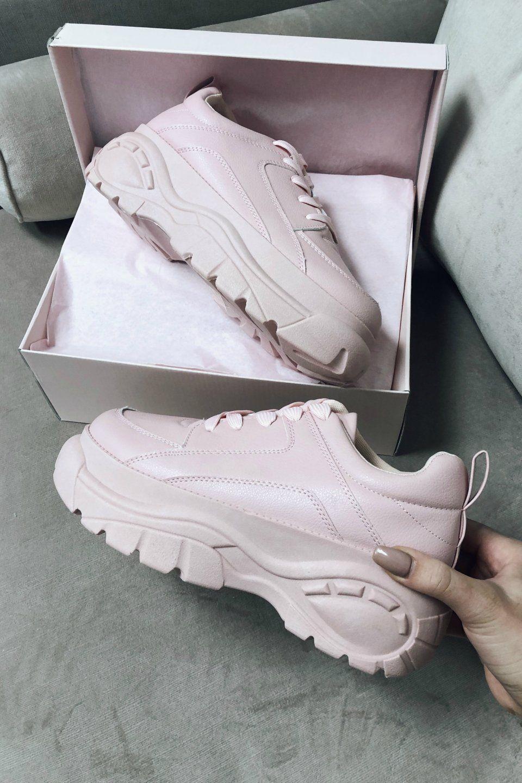 Pink Platform Dad Sneaker
