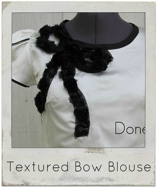 how to make a textured bow blouse by KristinaJ., via Flickr