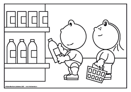 afbeeldingsresultaat voor kleurplaat supermarkt