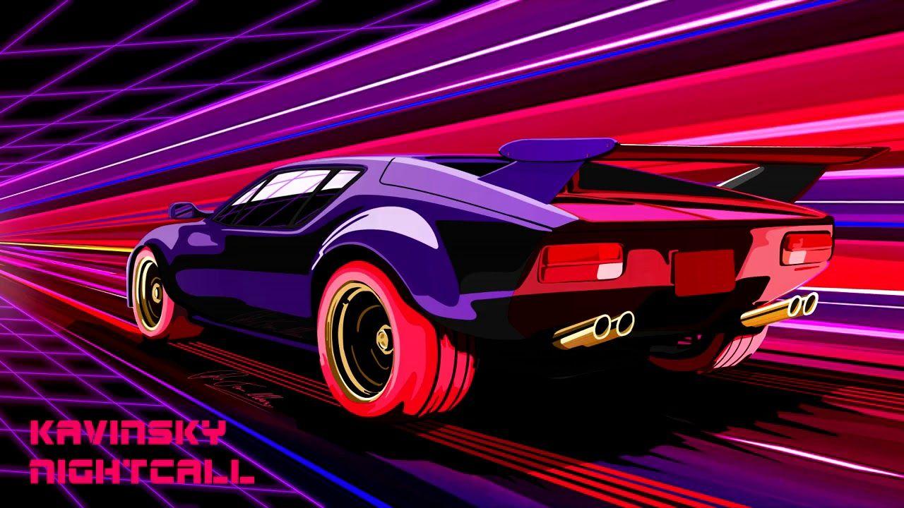 Nightdrive Synthwave Outrun Classics Mix Car Artwork Pantera Car Art Cars