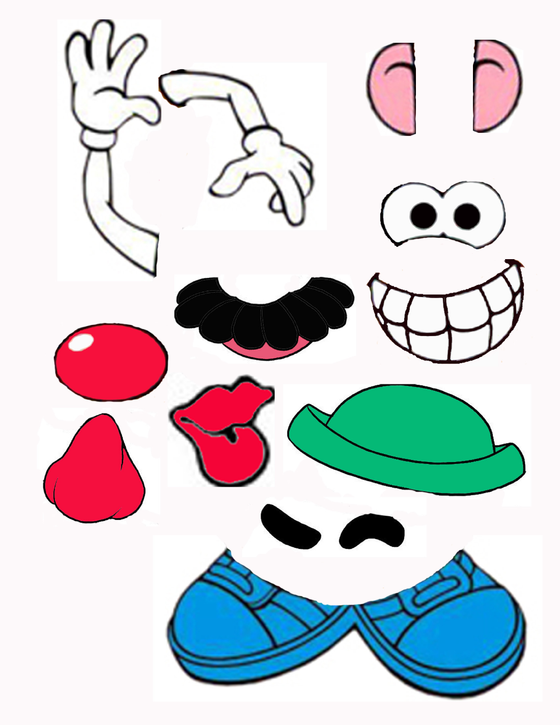 image relating to Mr Potato Head Printable named mr potato intellect elements printable - Google Seem Sensory